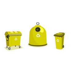 recycle bins two bigger and a small one vector image