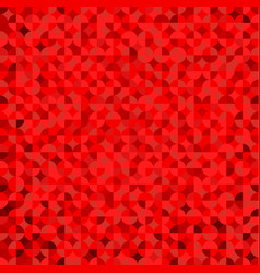 red geometric with round triangle symmetrical vector image