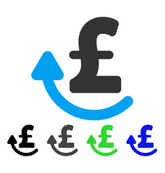 Repay pound flat icon vector