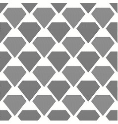 seamless grey diamonds pattern with diagonal lines vector image