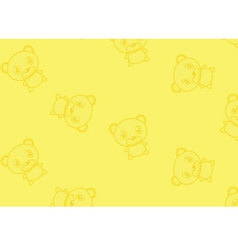 Seamless ornament with bears vector image