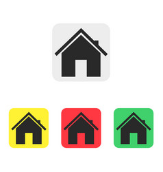 set of house icons in flat style icons vector image