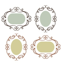set simple vintage frames vector image