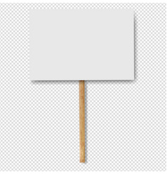 Sign banners on wood stick transparent background vector