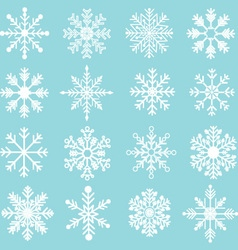 Snowflakes Silhouette set vector image