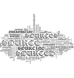 Sourced word cloud concept vector