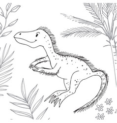 stylized dinosaur of the middle to late cretaceous vector image
