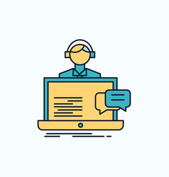support chat customer service help flat icon vector image