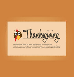 Thanksgiving cute background for greeting card vector