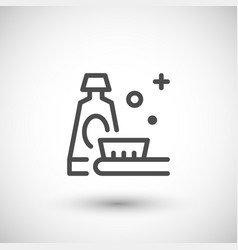 Toothpaste line icon vector