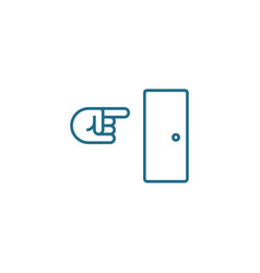 way out linear icon concept way out line vector image