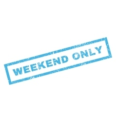 Weekend Only Rubber Stamp vector