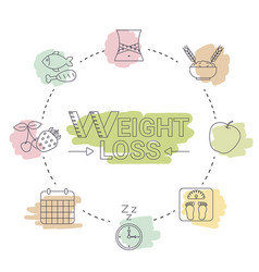 weight loss concept weight loss concept vector image