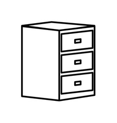 wooden drawer isolated vector image