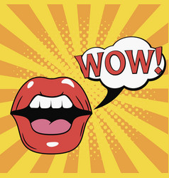 wow mouth vector image