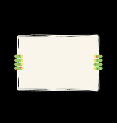 zombie hand holding white sheet green hand holds vector image