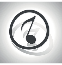 Curved music sign icon 3 vector image