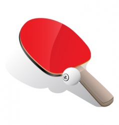 Ping-Pong paddle and ball vector image