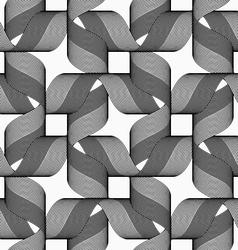 Ribbons dark and light forming bows pattern vector image vector image