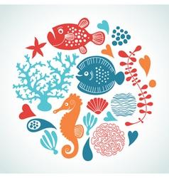 sea life vector image
