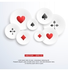 Abstract background with playing cards vector image vector image