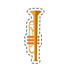 cartoon trumpet musician instrument icon vector image vector image