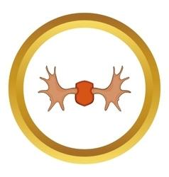Elk horns icon vector image