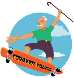 Forever young vector image vector image