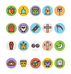 Halloween Icons 4 vector image