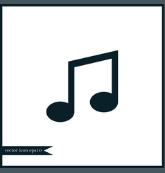 music note icon simple vector image vector image
