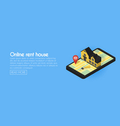 real estate online searching isometric flat web vector image