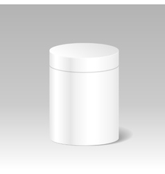 Realistic Blank White Product Package Box Mock Up vector image