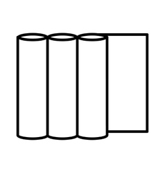 Rolls of paper icon outline style vector image vector image