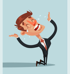 sad unhappy screaming and crying businessman vector image vector image