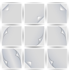 Set of white stickers vector