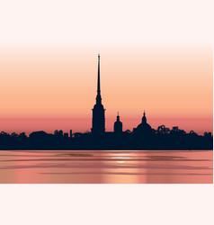 st petersburg landmark russia saint peter and vector image vector image