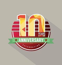 10 Years Anniversary Celebration Design vector image