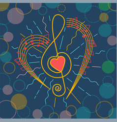 background of musical representation vector image