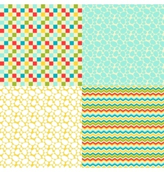 Happy Easter set of seamless patterns vector image vector image