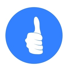 Thumb up icon in black style isolated on white vector image vector image