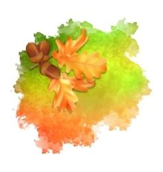 watercolor spot autumn leaves vector image