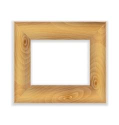 wooden frame vector image