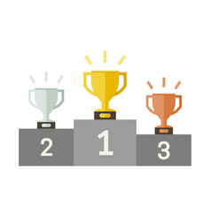 Championish cups flat icons vector