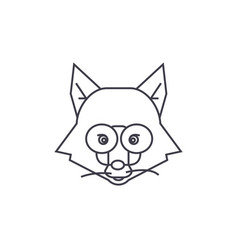 fox head sign line icon sign vector image