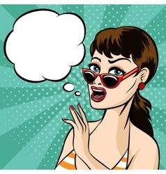 Girl in Glasses vector image vector image