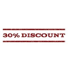 30 percent discount watermark stamp vector