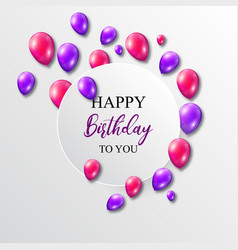 a birthday with balloons vector image