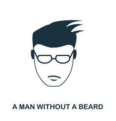 A man without a beard icon flat style icon design vector