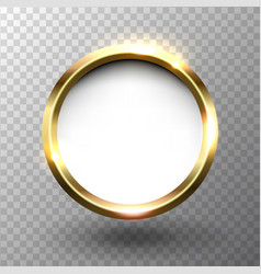 Abstract shiny golden circle frame with space for vector