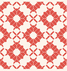 abstract vintage floral seamless red pattern vector image